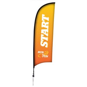 9 Premium Razor Sail Sign, 1-Sided, Ground Spike