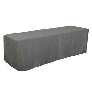Custom 8' Decobrite Three-Sided Table Cover (Unimprinted)