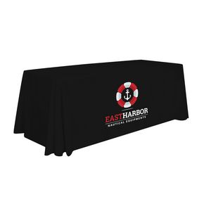 Custom 6' Stain Resistant Economy Table Throw (Full-Color Thermal Imprint)