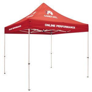 Custom Standard 10' x 10' Event Tent Kit (Full-Color Thermal Imprint, 5 Locations)