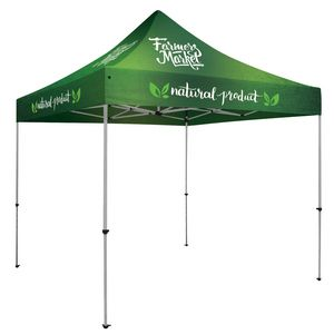 Custom Deluxe 10' x 10' Event Tent Kit (Full-Color, Full Bleed/Dye-Sublimation)