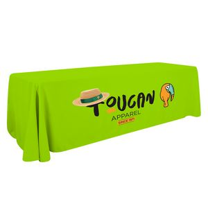 Custom 8' Economy Table Throw (Full-Color Thermal Imprint)