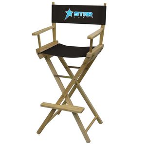 Custom Bar-Height Director's Chair (Full-Color Thermal Imprint)