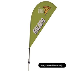 Custom 6.5' Tear Drop Value Streamline Sail Sign Kit Single-Sided with Spike Base