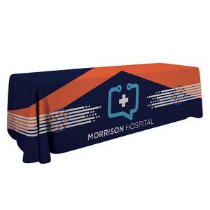 Custom 8' Economy Table Throw Dye-Sub (Full-Color, Full Bleed)