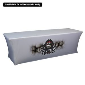 Custom 8' UltraFit Curve Throw (Dye Sublimation, Front Only)