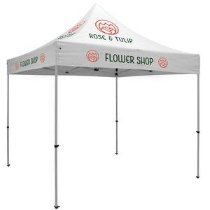 Custom Premium 10' x 10' Event Tent Kit (Full-Color Thermal Imprint/5 Locations)