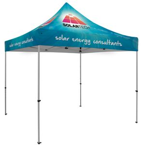 Custom Premium 10' x 10' Event Tent Kit (Full-Color Full Bleed/Dye-Sublimation)