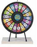 Custom 18-Slot Black Tabletop Prize Wheel Game