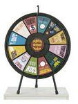 Custom 12-Slot Black Tabletop Prize Wheel Game