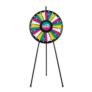 12 to 24 Adaptable Prize Wheel Floor Stand with Lights
