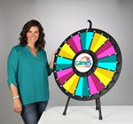 Custom 12 to 24 Adaptable Table Top Prize Wheel with Lights