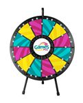 Custom 12-Slot Black Tabletop Prize Wheel Game with Lights