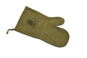 Suede BBQ/ Oven Mitt, Debossed or Hot Branded (Olive)