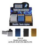 Custom Double Torch Metallic Lighter