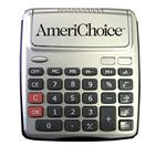 Custom Large Push Button Flip Cover Desk Top Calculator (Black)