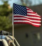 Custom American Flag w/ Car Clip