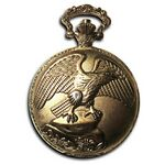 Custom Pocket Watch w/ Chain (Eagle)