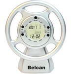 Custom Steering Wheel Clock/ Calendar-SILVER