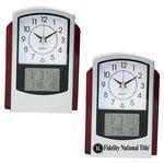 Custom Dual Time Analog and Digital Alarm Clock with Calendar