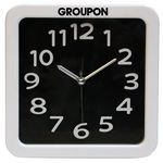 Custom Large Retro Look Analog Alarm Clock-BLACK
