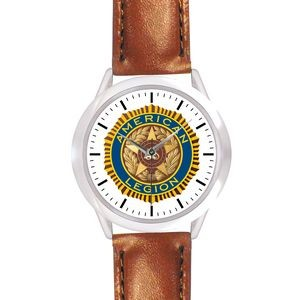 Unisex Brown Leather Band Watch