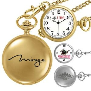 Gold or Silver Pocket Watch w/ Chain