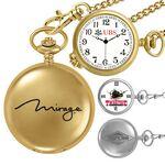 Custom Gold or Silver Pocket Watch w/ Chain
