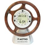 Custom Steering Wheel Clock/ Calendar-BROWN