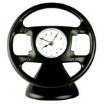 Custom Desktop Steering Wheel Shape Alarm Clock-BLACK
