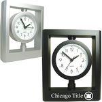Custom Desk Top Alarm Clock with Swivel Head and Sweep Second Hand
