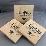 Custom Absorbent Natural Sandstone Coasters - Set of 2 in Printed Gift Box