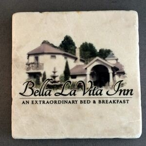 Tumbled Stone Coaster / Italian Botticino Marble - Single Bulk