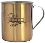 Custom 10 Oz. Stainless Steel Moscow Mule Mug with Built In Handle - Copper Coated
