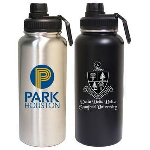 32 Oz. Stainless Steel Vacuum Insulated bottle with screw-on lid