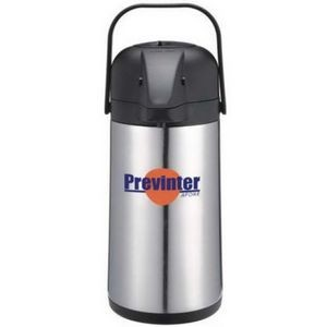 2.5 Liter Stainless Steel Vacuum Insulated Coffee Dispenser w/ Push & Pour Lever