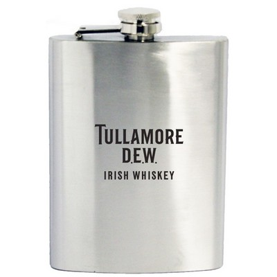 8 Oz. Stainless Steel Hip Flask w/ Hinged Cap