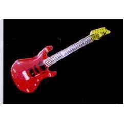 Red Electric Guitar Flash Lapel Pin