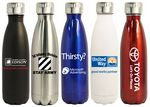 Custom 16 Oz. Stainless Steel Vacuum Insulated Thermal Bottle, blue, red, black, white and silver