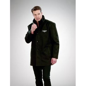 Men's Heavyweight Melton Wool Blend Coat