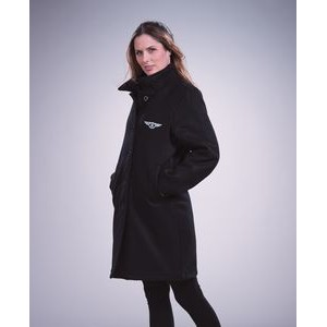 Women's Heavyweight Melton Wool Blend Coat