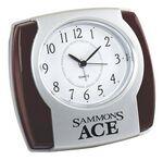 Custom Wood Trim Alarm Clock - 4-1/2