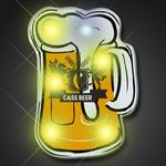 Custom Beer Mug Blinking Lights Pin