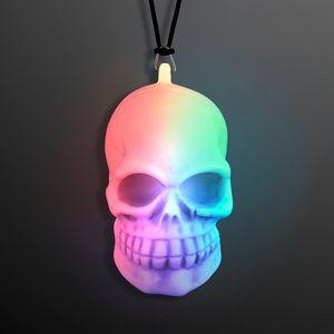 Custom LED Soft Skeleton Skull Bead Necklace