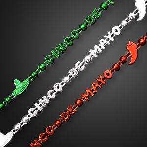 Custom Cinco de Mayo Party Bead Necklace