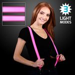 Custom Light Up Pink LED Suspenders