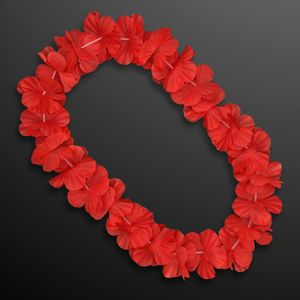 Custom Red Flower Lei Necklace (Non-Light Up)