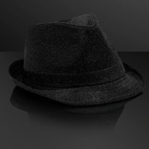 Custom Snazzy Black Fedora Hat (NON-Light Up)