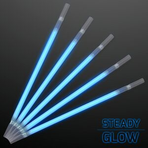 Custom Blue Glow Party Straws for Light Drinks