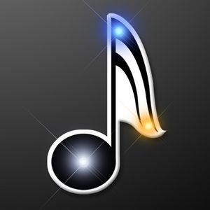Custom Music Note Flashing Pins